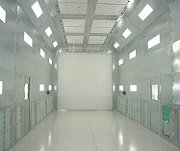 Large Industrial Paint Preparation Booths